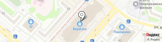 Магазин печатной продукции на проспекте Шинников на карте Нижнекамска