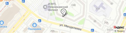 Молодежная библиотека №45 на карте Нижнекамска