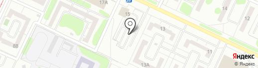 Автостоянка на ул. Менделеева на карте Нижнекамска