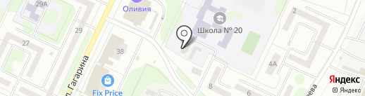 Школа водного транспорта на карте Нижнекамска