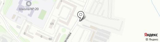 Автомастерская на карте Нижнекамска