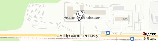 Нижнекамскнефтехим, ПАО на карте Нижнекамска