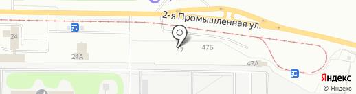 Кама-Нижнекамск на карте Нижнекамска