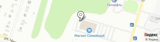 Магнит на карте Елабуги