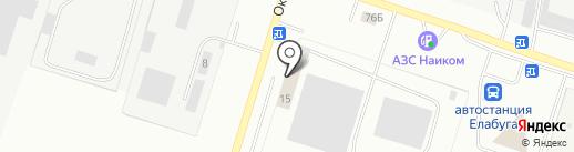 Отделение ГИБДД отдела МВД России по Елабужскому району на карте Елабуги
