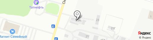 Магазин строительно-отделочных материалов на карте Елабуги