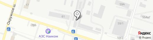 Мустанг-сервис на карте Елабуги