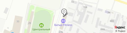 Татарская Слобода на карте Елабуги