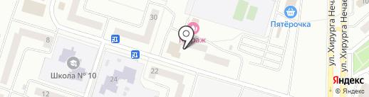 ЕСН на карте Елабуги