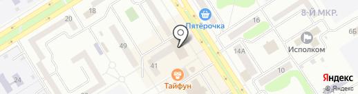 Теплый дом на карте Елабуги