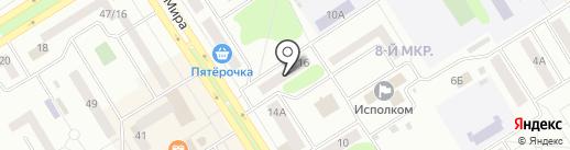 Почтовое отделение №3 на карте Елабуги