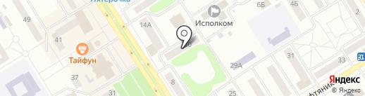 Наталья на карте Елабуги
