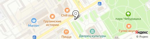 Сеть сервисных центров на карте Елабуги