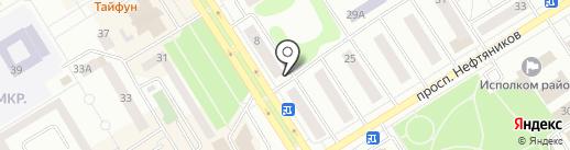 Анфиса на карте Елабуги