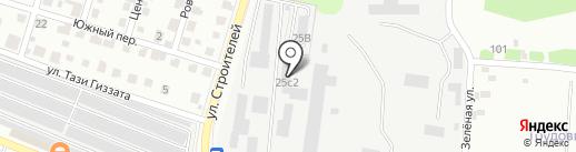 Автобольница на карте Елабуги