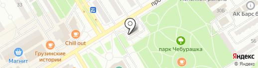 Макдоналдс на карте Елабуги