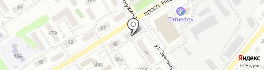 Мастерская по ремонту одежды на проспекте Нефтяников на карте Елабуги
