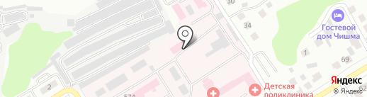 Елабужская центральная районная больница на карте Елабуги