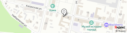 Гостиный двор на карте Елабуги