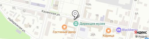 Банкомат, АК Барс банк, ПАО на карте Елабуги