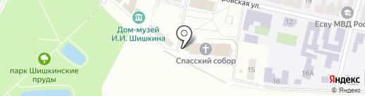 Спасский собор на карте Елабуги