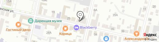 Камелот на карте Елабуги
