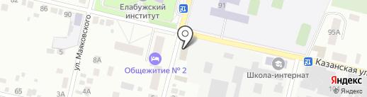 Сеть продуктовых магазинов на карте Елабуги