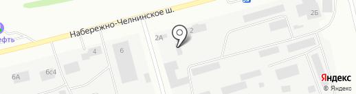 Втормет на карте Елабуги