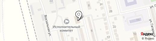 Магазин бытовой химии и посуды на ул. Строителей на карте Круглого Поля