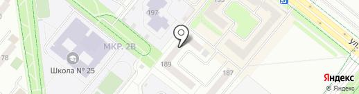 Трикотейка на карте Альметьевска