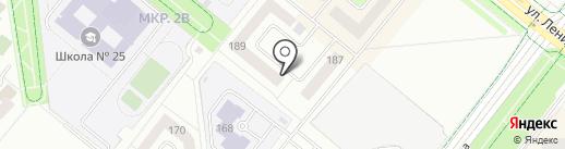 Телега на карте Альметьевска