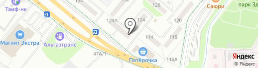 Курляндия на карте Альметьевска
