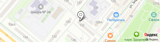 Мирас на карте Альметьевска