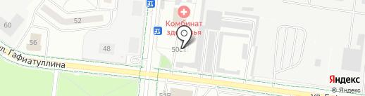 Автостоянка на карте Альметьевска
