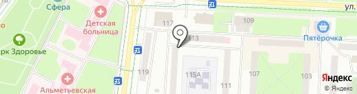 Темп на карте Альметьевска