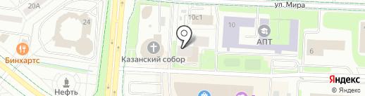 Серпантин на карте Альметьевска