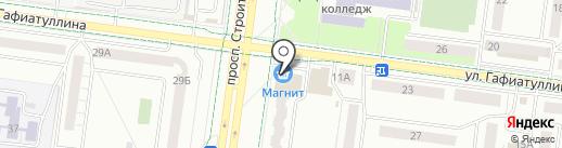 Алдина на карте Альметьевска
