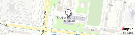 Альметьевский профессиональный колледж на карте Альметьевска