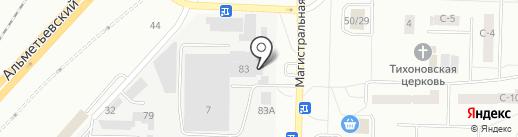 Челны-огнеупор на карте Набережных Челнов