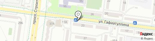 Цветник на карте Альметьевска