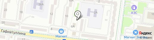 Шиномонтаж на карте Альметьевска