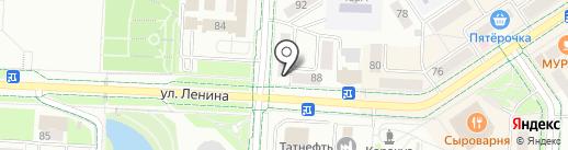 Магазин текстиля на карте Альметьевска