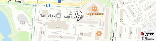 Банкомат, Банк ВТБ, ПАО на карте Альметьевска