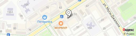 Мясной магазин на карте Альметьевска