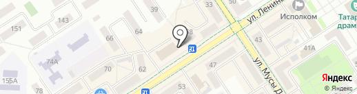 Трент на карте Альметьевска