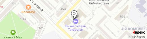 Татарстан на карте Набережных Челнов