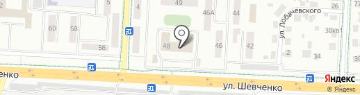 Мастерская по ремонту одежды на ул. Шевченко на карте Альметьевска