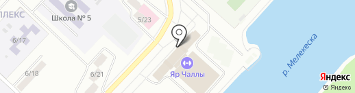 Скалодром Набережные Челны на карте Набережных Челнов