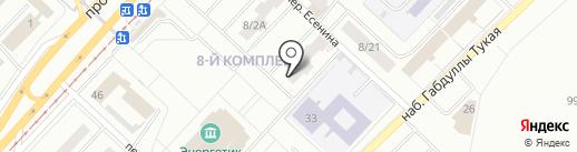 Поволжская типография на карте Набережных Челнов
