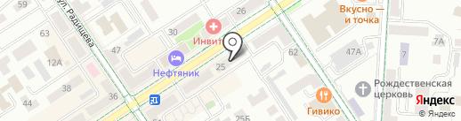 Магазин бытовой химии на карте Альметьевска